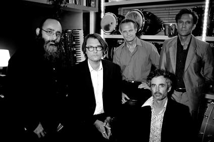 L To R : Adam Lang, Moldre, Scott Hutchings, Reuben Wills, Jamie Hutchings. Pic By Michael Carpenter